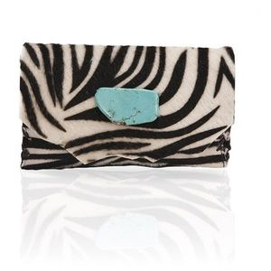 Marie Calf Hair Wallet/Clutch in Zebra